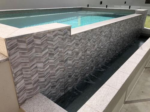 Custom above ground pool